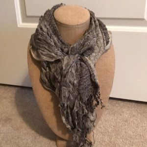 Accessories - Stylish grays and black scarf. Gorgeous on!